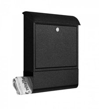 Heibi Briefkasten mit Zeitungsfach Grafit (43802-039)