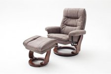 MCA-furniture SAMONE XL taupe/walnuss