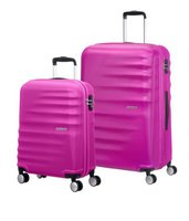 American Tourister Wavebreaker Spinner-Set 55/77 cm hot lips pink