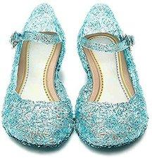 Katara Frozen Prinzessin Elsa Absatz-Schuhe Blau