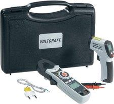 Voltcraft VOLTCRAFT Infrarot-Thermometer Schimmelwarner-Set Indoor: Infrarot-Temperatur Lecksucher + Thermo-/