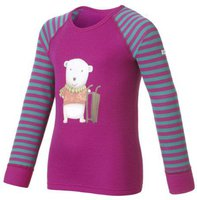 Odlo Shirt l/s Crew Neck Warm Trend Kids (150449) violet pink - tile blue