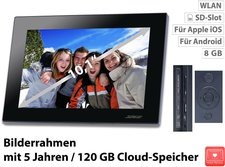 """Somikon Digitaler WLAN Bilderrahmen 10,1 """"-IPS-Touchscreen"""