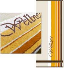 Dyckhoff Saunatuch Wellness Streifen gelb (80x200cm)