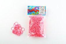 Rainbow Loom Gummibänder 600 Stück rosa (689547)