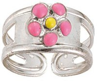 Scout Silberring Blume rosa (263005100)