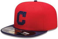 New Era Cleveland Indians Diamond 59FIFTY red/navy