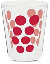 Zak Designs Dot Dot Doppelwand Glas 20 cl rot