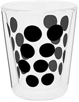 Zak Designs Dot Dot Doppelwand Glas 20 cl schwarz