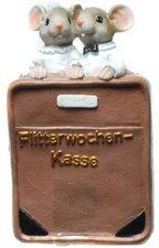 Udo Schmidt Spardose Flitterwochen - Kasse mit Brautpaar Mäuse