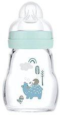 MAM Feel Good Glasflasche (170 ml) Blau