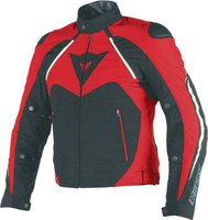 Dainese Hawker D-Dry Jacket schwarz/weiss/rot