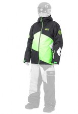 Picture Styler Jacket black/neon green/white