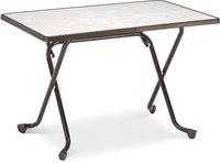 Best Freizeitmöbel Primo Scherenklapptisch 110x70cm rechteckig braun (26521110)