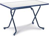 Best Freizeitmöbel Primo Scherenklapptisch 110x70cm rechteckig blau (26521120)