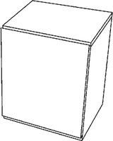 Keramag 4U Seitenschrank weiß matt/Motiv weiß glänzend (804244)