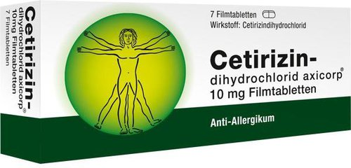AxiCorp Cetirizindihydrochlorid 10 mg Filmtabletten (7 Stk.)