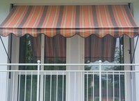 Angerer Klemm-Markise 150 x 150 cm orange-braun