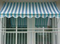 Angerer Klemm-Markise 150 x 150 cm blau-weiß
