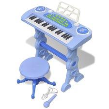 vidaXL 37 Tasten Kinder Piano Blau