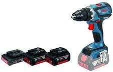 Bosch GSR 18 V-EC Professional mit 3 Akku + L-Boxx (0 615 990 HU8)