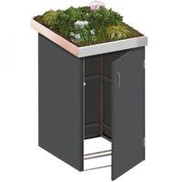 TraumGarten Mülltonnenbox HPL Schiefer 1 x 240 Liter Pflanzschale