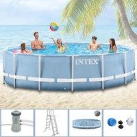 Intex Pools Steel Frame Pool 366 x 91 cm mit Kartuschenfilter (289174)
