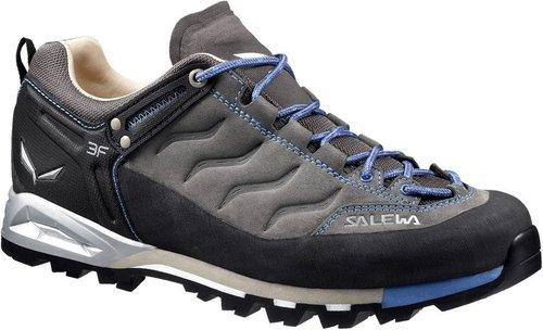 Salewa Mountain Trainer Leder - Bergschuh Damen, Damen Trekking- & Wanderhalbschuhe, Grau (Pewter/Riviera 4054), 36 EU (3.5 Damen UK)