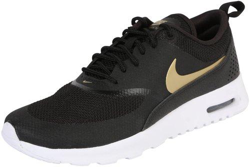 brand new 479ec 24b43 Nike Air Max Thea black white metallic gold