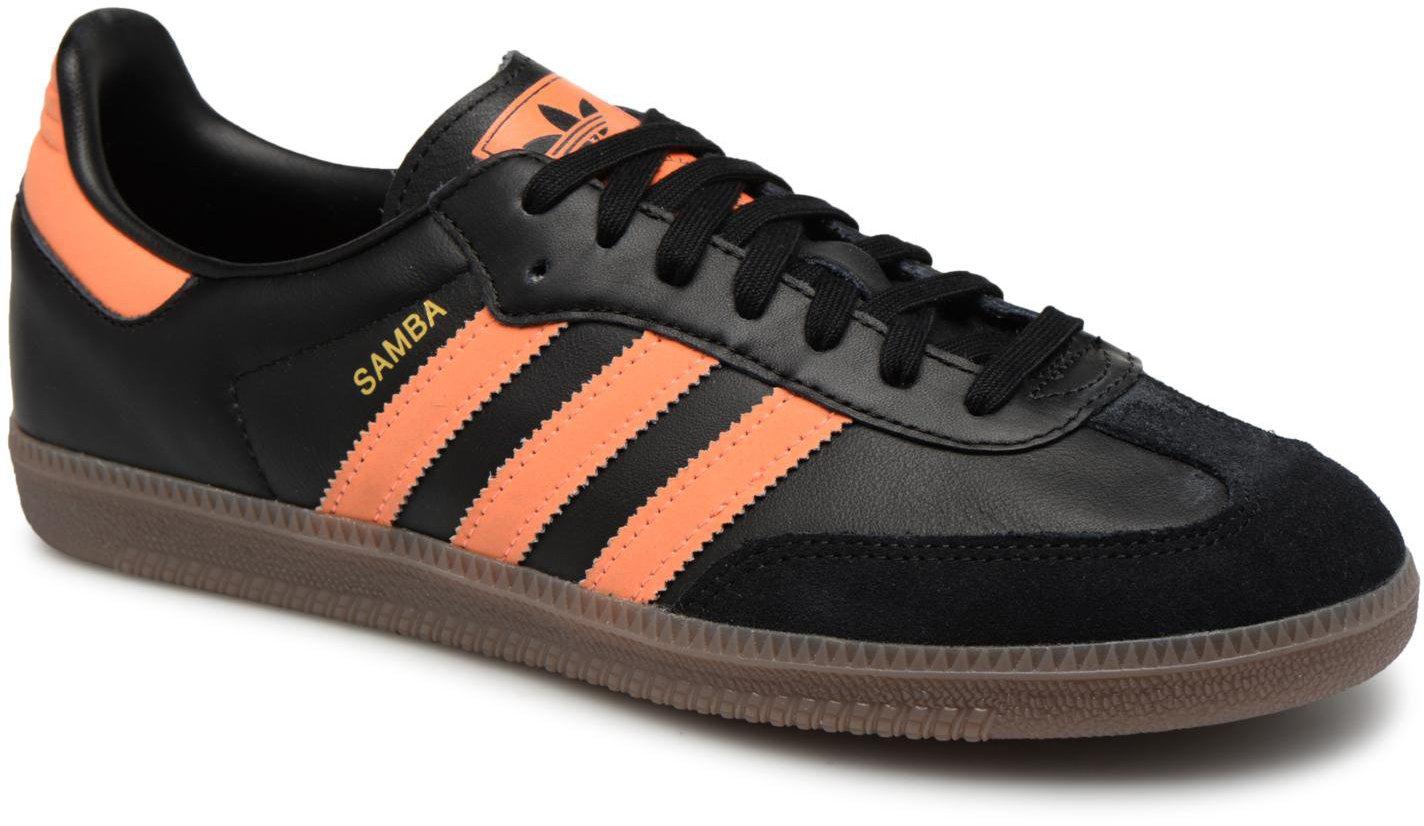 check out 3e903 753b2 Adidas Samba OG core black hi-res orange gold metallic günstig kaufen