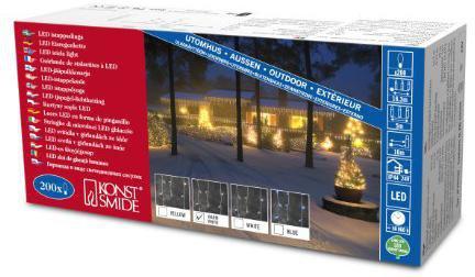 konstsmide led eisregen lichterkette 200 led g nstig kaufen. Black Bedroom Furniture Sets. Home Design Ideas