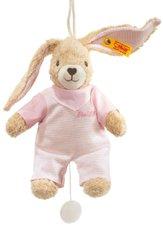 Steiff Hoppel Hase Spieluhr rosa 20 cm