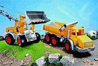 Wader ConsTruck Kipper 3 Achsen und Schaufellader gelb silber (38456)