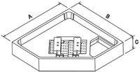 Illbruck Poresta Wannenträger für Bette Caro Duschwanne 90 x 80 x 15 cm (17034260)