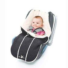 Wallaboo Fußsack für Babyschale schwarz
