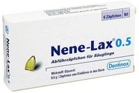Dentinox Nene Lax 0,5 Suppositorien für Sauglinge (6 Stück)