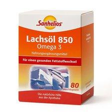 Börner Sanhelios Lachsoel 850 Omega 3 Kapseln (80 Stk.)