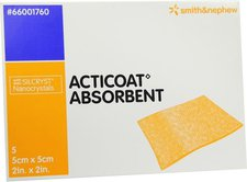 smith & nephew Acticoat Absorbent 5 x 5 cm Wundverband (5 Stk.)